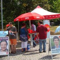Die Vitamin-C-Theke der SPD war der Renner an diesem heißen Donnerstag