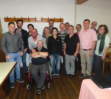Vorstand des SPD-KV Roth (v.l.n.r.): M. Lindner, S. Ehrhardt, J. Niedermann-Kriegel, M. Schneider, K. Mattlat, M. Brunner, A. Schermeyer, C. Süß, W. Schmid, B. Schwarz, E. Dürr, M. Schaffer, W. Lebok, H. Röttenbacher, I. Schinkel.Einige Mitglieder fehlen
