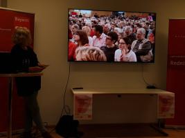 Genossinnen und Genossen, die in der Nürnberger Meisterhalle bei der Vorstellung anwesend waren.