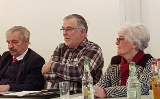 Hans Raithel, Richard Erdmann und Irene Heckel