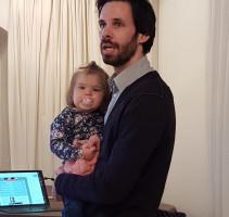 Sven Ehrhardt mit Tochter