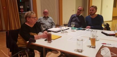 Bettina Bärthold, die neue Geschäftsführerin der SPD-Geschäftsstelle in Roth, zusammen mit den Genossen Gödel, Röttenbacher und Schneider aus Rednitzhembach