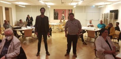 Sven Ehrhardt und Jan Plobner bei der Sitzung des Kreisvorstands mit den Vorsitzenden der Ortsvereine