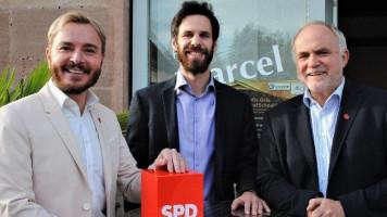 Dream-Team der Kreis-SPD (von links): Marcel Schneider, Sven Ehrhardt, Herbert Eckstein. Foto: Gerner