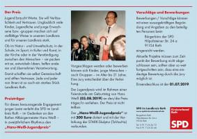 Hans-Weiß-Jugendpreis: Vorschläge und Bewerbungen