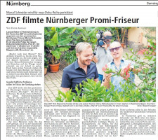 ZDF filmte Nürnberger Promi-Friseur. SCT/28.8.2017