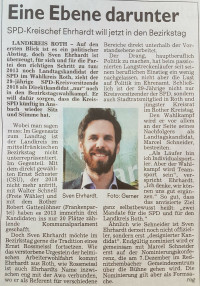 Ich habe mich entschieden, 2018 nicht erneut für den Landtag zu kandidieren. Stattdessen bewerbe ich mich -passend zu meinem Engagement bei der AWO- um einen Sitz im mittelfränkischen Bezirkstag.