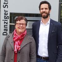 SPD Fraktionsspitze im Bezirkstag: Gisela Niclas und Sven Ehrhardt