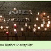 Lichterkette gegen Fremdenfeindlichkeit zum Jahrestag der Reichspogromnacht am 9. November