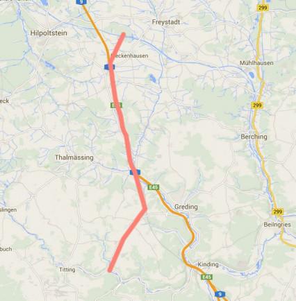 Gleichstromtrasse Google Maps