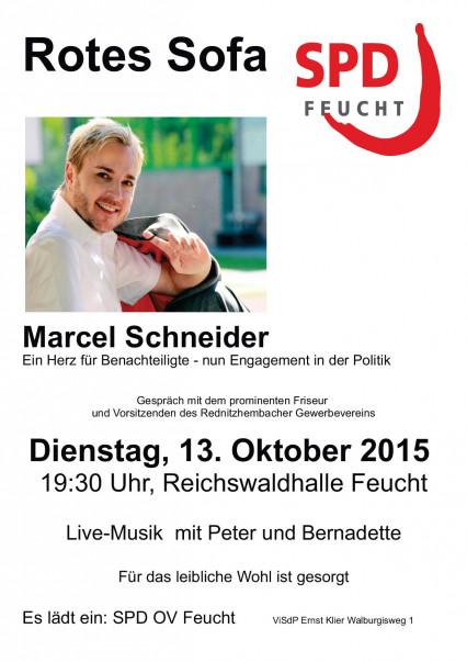 Rotes Sofa Marcel Schneider Bild