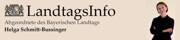 Landtagsinfo Helga Schmitt-Bussinger